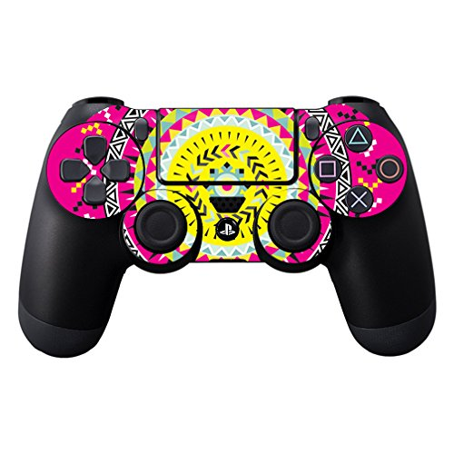 MightySkins Protective Vinyl Skin Decal Cover for Sony PlayStation DualShock 4 Controller wrap sticker skins Pink Aztec