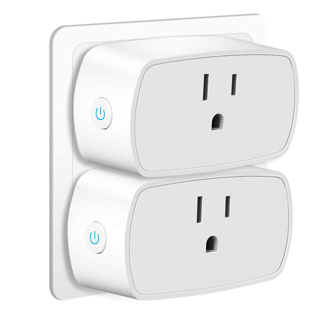 WiFi Smart Plug Fujiway Mini Wifi Outlet Socket with Timer Compatible with Alexa Echo Dot and Google Home Remote Control Your Devices from Anywhere No Hub Required(2Pack)