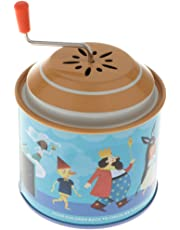 MagiDeal Classic Cartoon Fairy Tale Tin Hand Crank Music Box for Kids Toddler Christmas Gift Home Table Decoration