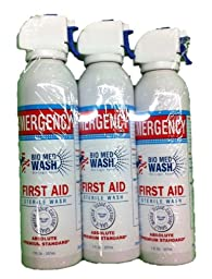 Bio Med Wash Emergency First Aid & Sterile Eye Wash 7-oz., 3-pack