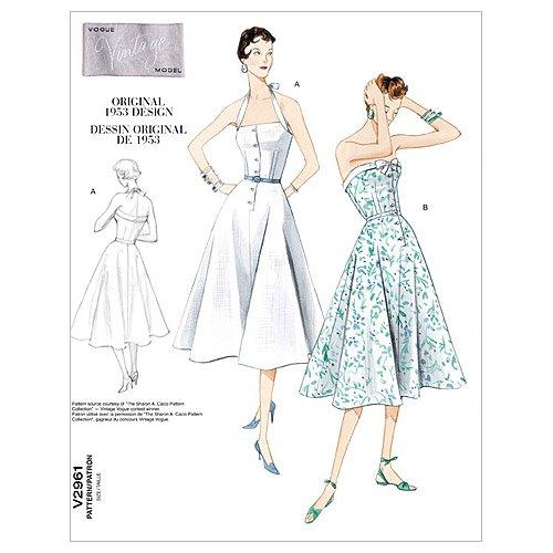 Vogue Patterns V2961 Misses'/Misses' Petite Dress and Belt, Size AAX (4-6-8-10)