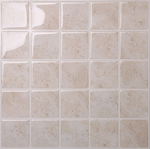 tic tac tiles antimold peel and stick wall tile in marmo travertine 5