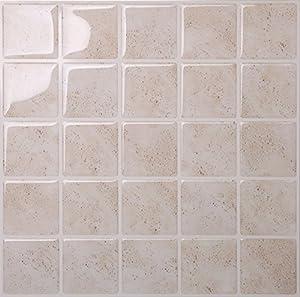 Amazon Com Tic Tac Tiles Anti Mold Peel And Stick Wall