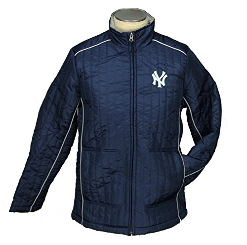 New York Yankees MLB Womens Players Zip Up Jacket, Navy (Large, Navy)