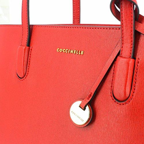 Coccinelle Clementine Shopper Tasche Leder 41 cm Laptopfach Coquelicot
