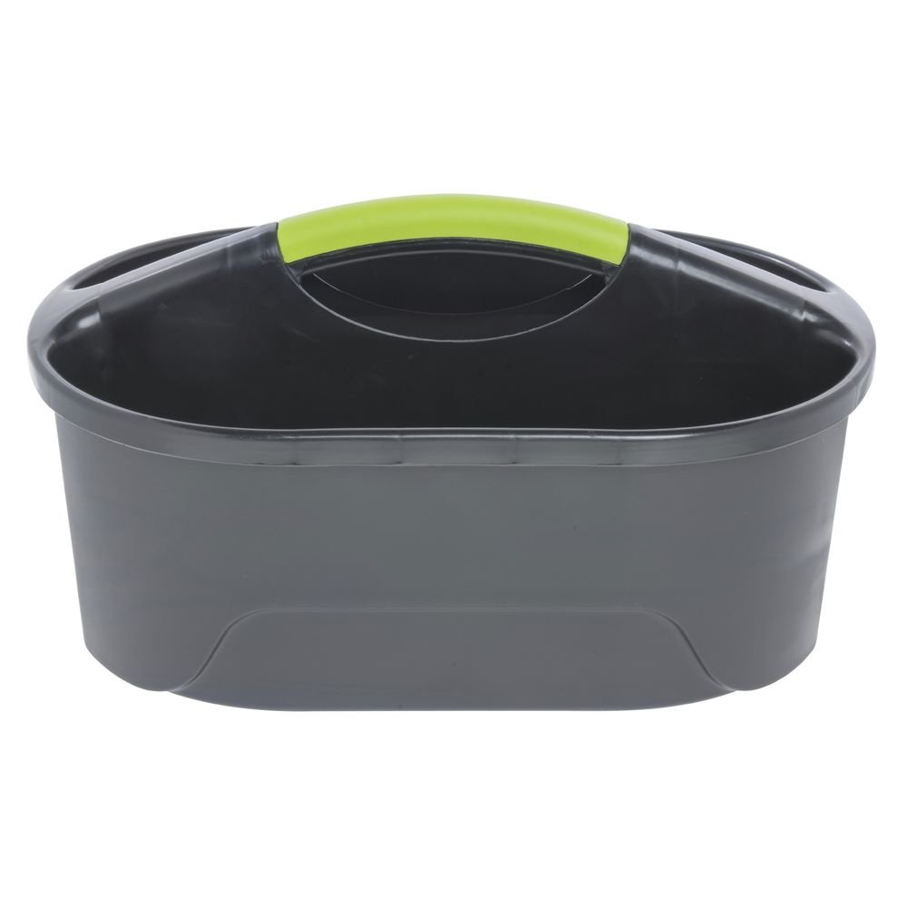 HUBERT Cleaning Caddy with 2 Compartments Black Plastic - 16 1/2 L x 12'' W x 8 3/4 H