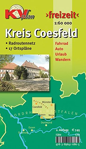 Coesfeld Kreiskarte für das südliche Münsterland: 1:60.000 Freizeitkarte mit beschildertem Radroutennetz und 17 Ortsplänen in 1:25.000 (KVplan-Freizeit-Reihe)