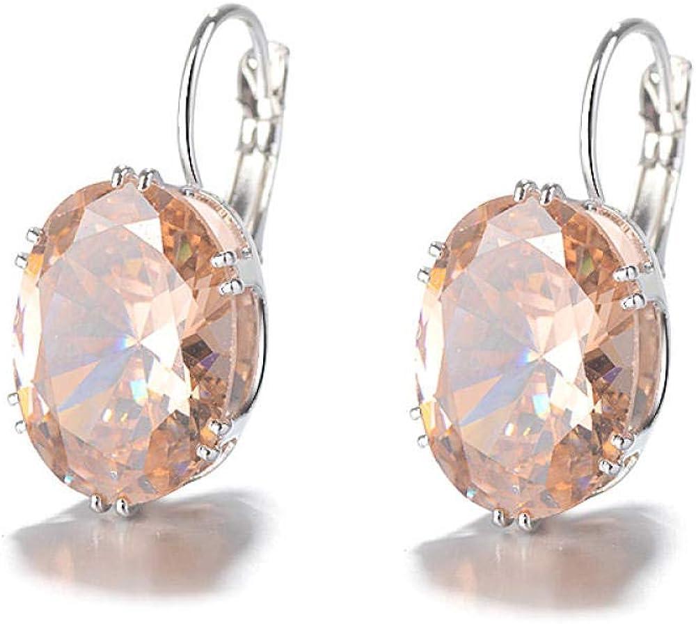 Pendientes de zafiro con incrustaciones de tesoros multicolores pendientes pendientes pendientes con clip de oreja pendientes pendientes Kdw