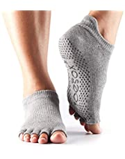 ToeSox Women's Low Rise Half Toe Grip Non-Slip for Ballet, Yoga, Pilates, Barre Toe Socks