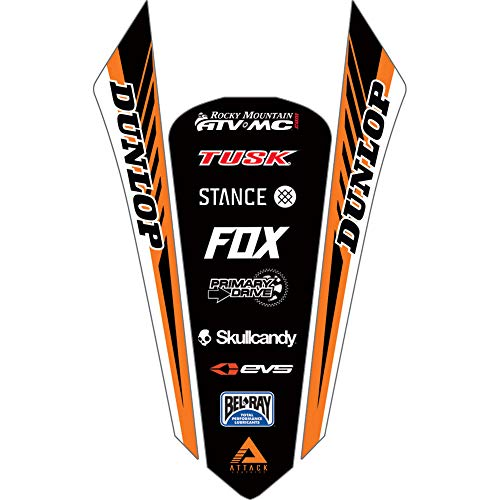 Attack Graphics Turbine Rear Fender Decal Orange - Fits: KTM 250 XC-W i (Fuel Injected) - Decal Fender Rear 250