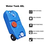 55 gallon stove kit - Outdoor Picnic Camping Wheeled Water Tank Caravan Storage Motorhomes RV Waste Tote Transport Blue 40L With Ebook