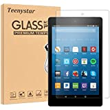 Fire HD 8 Screen Protector, Teenystar Tempered Glass Screen Protector for Fire HD 8 Tablet (7th 2017 Release / 6th 2016 Release) - 9H, HD, Bubble Free, Anti-Scratch (1 Pack)