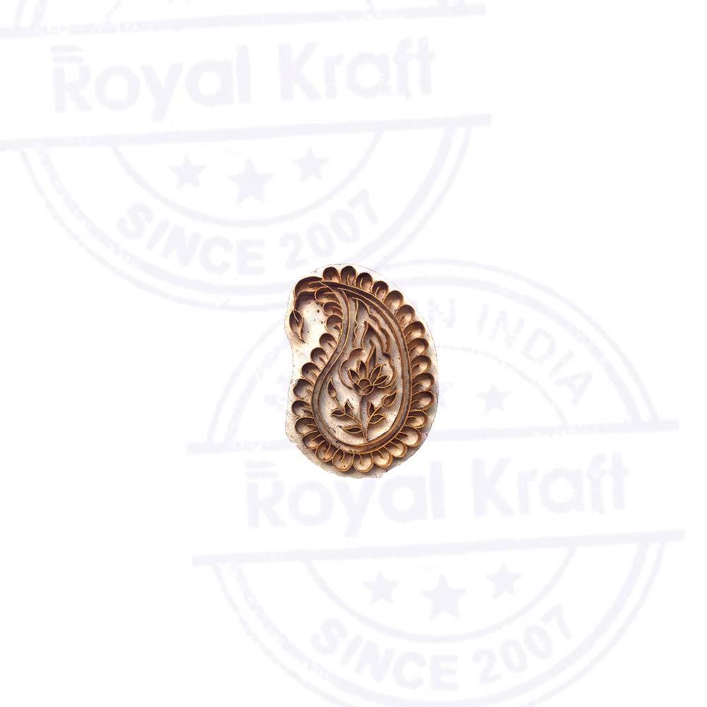Royal Kraft Bellissimo Stampa Timbri Ottone Paisley Designs Ceramiche Legno Blocchi