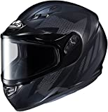 HJC CS-R3 Treague Mens Snowmobile Helmets - Black - 2X-Large