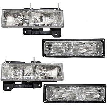 1999-2002 GMC C3500 K1500 K2500 Headlight Lamp Clear lens Truck Suburban Left