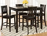 Cheap Jofran: 923, Planation, 5 Pack Counter Height Set, Counter Height Table, 36″W X 48″D X 36″H, Barstool, 17″W X 18.5″D X 40″H, Dark Rustic Prairie Finish, (Set of 1)