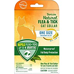 TropiClean Flea and Tick Repellent Collar for Cats, One Size Fits All