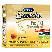 Enfamil Expecta multivitamínico prenatal y suplemento dietético DHA, 60 comprimidos (suministro para 30 días)
