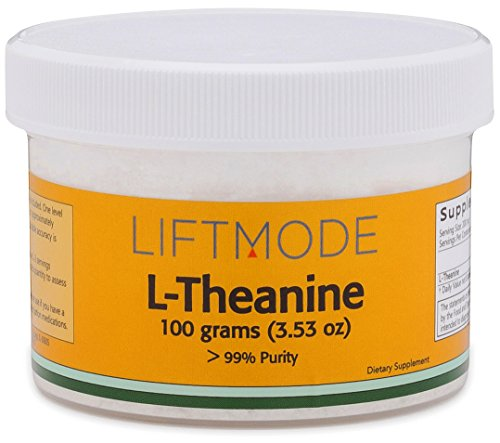 LiftMode L-Theanine 99+% Pure Bulk Powder - 100 Grams (500 Servings at 200 mg) | #Top Amino Acid Supplement | For Focus, Stress Relief, Weight Loss, Pre Workout |Vegetarian, Vegan, - Gaba Pure Powder