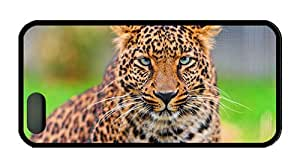 Cool iphone 5 original covers Leopard face HD close up TPU Black for Apple iPhone 5/5S