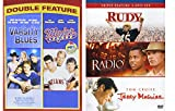 Sports DVD Bundle 5-Movies Rudy/Radio/Jerry Maguire/Varsity Blues/Major League
