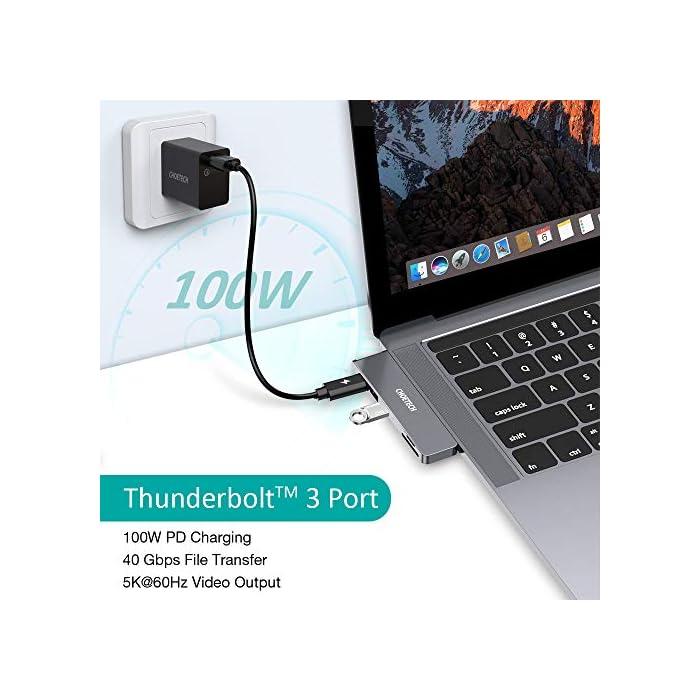 51aB7smDVDL Haz clic aquí para comprobar si este producto es compatible con tu modelo 【Especialmente para Macbook Pro / Air】 Este USB Type-C HUB utiliza dos puertos para velocidad y estabilidad para conectarse firmemente a su computadora, solo cabe en MacBook Pro 2020/2019/2018/2017/2016 13 pulgadas y 15 pulgadas, MacBook Air 2020/2019/2018. Conecte y juegue simplemente para ampliar las capacidades de su MacBook. Retire la carcasa del portátil mientras lo usa. 【Extensión de USB Hub C 7 en 2】 Hay 7 puertos diferentes que incluyen un puerto HDMI, 2 puertos USB C, 2 puertos USB A y lector de tarjetas SD / TF. Este concentrador usb c también le brinda un puerto Thunderbolt 3 para cargar su MacBook, otro puerto USB-C (función sin carga) le permite conectar otro dispositivo USB C para la transmisión de datos de hasta 5 Gbps. Amplíe fácilmente su Macbook en múltiples usos diarios.