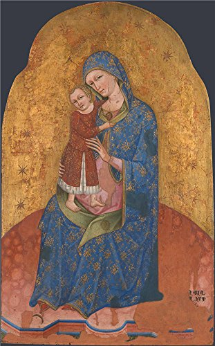 Oil Painting 'Dalmatian - The Virgin And Child,about 1400', 12 x 19 inch / 30 x 49 cm , on High Definition HD canvas prints is for Gifts And Bath Room, Garage And Laundry Room Decoration