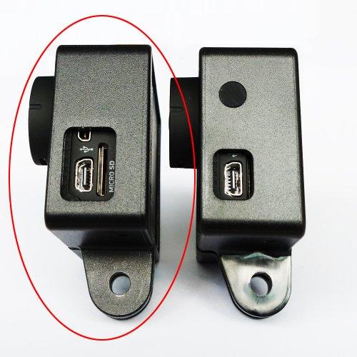 Moonshuttle Standard Frame Mount(Wide Side Open) for Gopro 3 3+ + Tripod Mount + Lens Cap Bundle