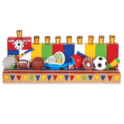 The Hanukkah Children's Sports Menorah (Baseball ,Basketball, Football, and (Children Menorah)