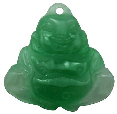 Amazon.com: Verde Buda colgante de esteatita: Jewelry