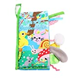 Christmas Lift Soft Baby Animal Tails Cloth Book (5 Pages) -Infant/Toddler Tails Cloth Books Toy ,Animal Cloth Book Baby Toy Cloth Development Books (garden's tail)