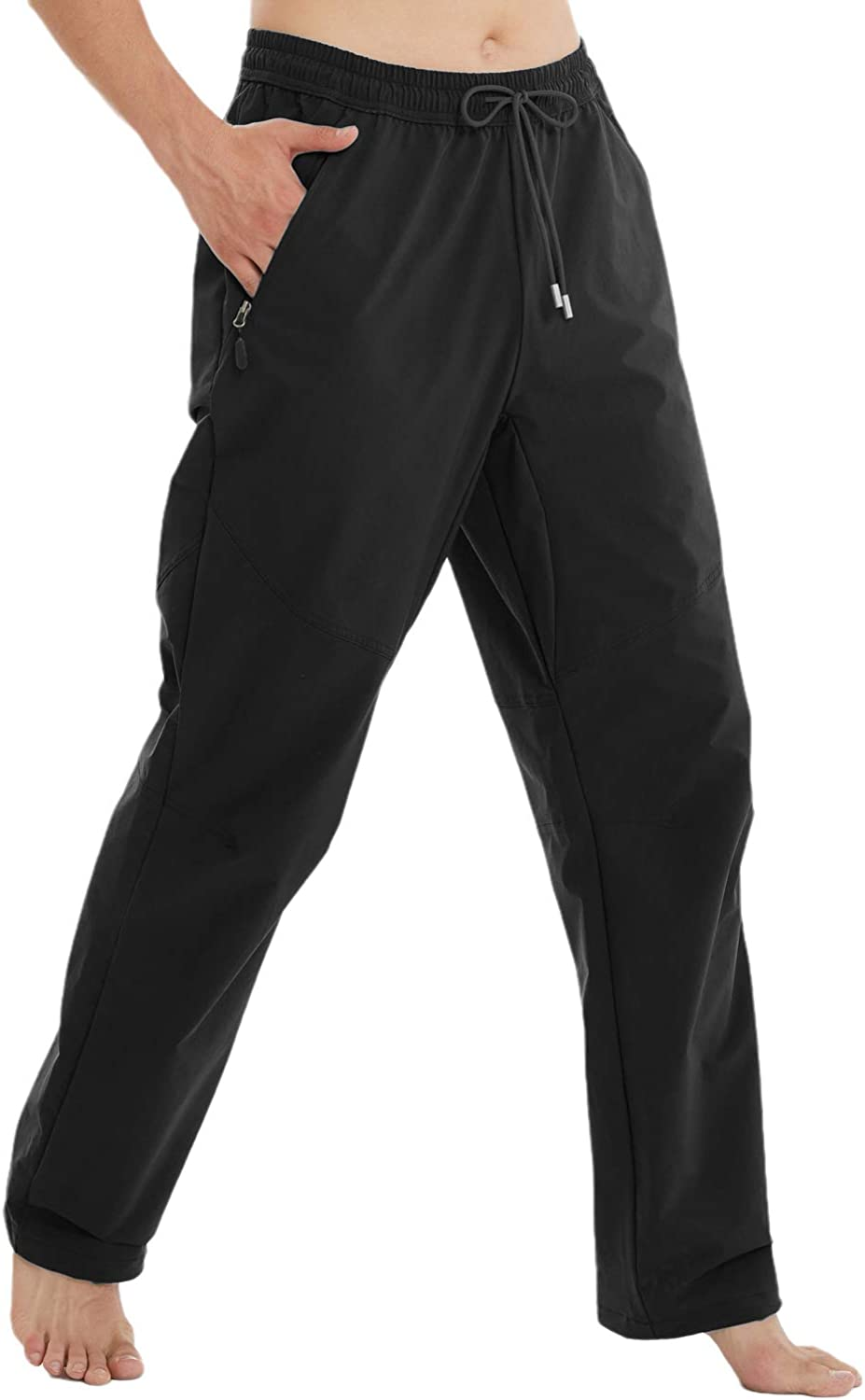 Arisonho Men's Quick Dry Running Mountain Travel Athletic Pants with Zipper Pockets
