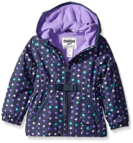 Osh Kosh Little Girls' Toddler Midweight Transitional Jacket, Dot Print, 2T