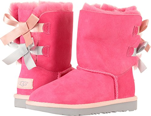 UGG Kids K Bailey Bow II Pull-on Boot, Pink Azalea/Icelandic Blue, 1 M US Little Kid