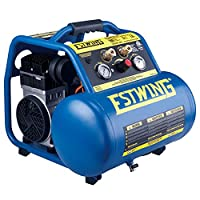 Estwing E5GCOMP 5 gallon Quiet High Pressure Oil-Free Compressor, Blue