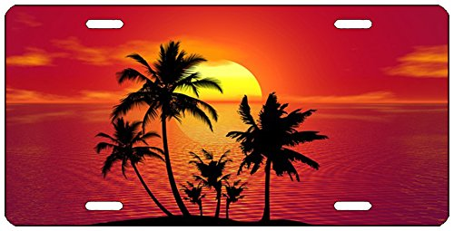 Rogue River Tactical Hawaii Ocean Sunset Beach Shoreline License Plate Novelty Auto Car Tag Vanity Gift Waves Coastal Sunset