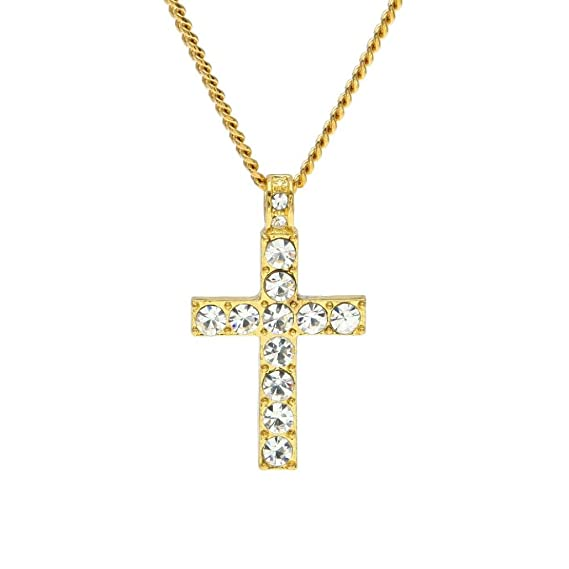 Amazon clearance salefunic hip hop men womens jewelry bling clearance salefunic hip hop men womens jewelry bling rhinestone crystal cross pendant necklace gifts aloadofball Choice Image