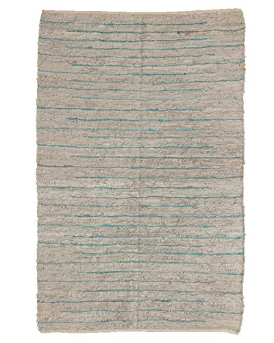 Natural Area Rugs Handmade Reversible Beckham Leather Rectangle Rug (5