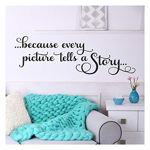 Because every picture tells a story... vinyl lettering wall decal sticker (12.5