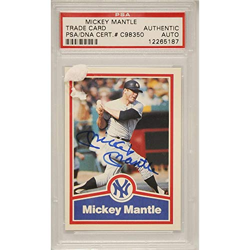 e2db073c4 Mickey Mantle New York Yankees Autographed Trading Card - C98350 - PSA/DNA  Certified - Baseball Slabbed Vintage Cards