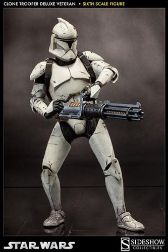 Great Sideshow Star Wars The Clone Wars Clone Trooper Veteran 1/6 Scale 12u0026quot;  ...