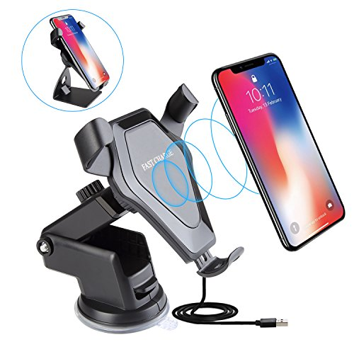 NEXGADGET Wireless Car Charger Air Vent Mount Dashboard Hold