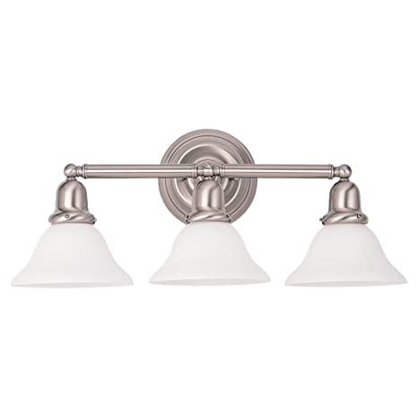 Sea gull lighting 44062 962 sussex collection three light wall sconce brushed nickel