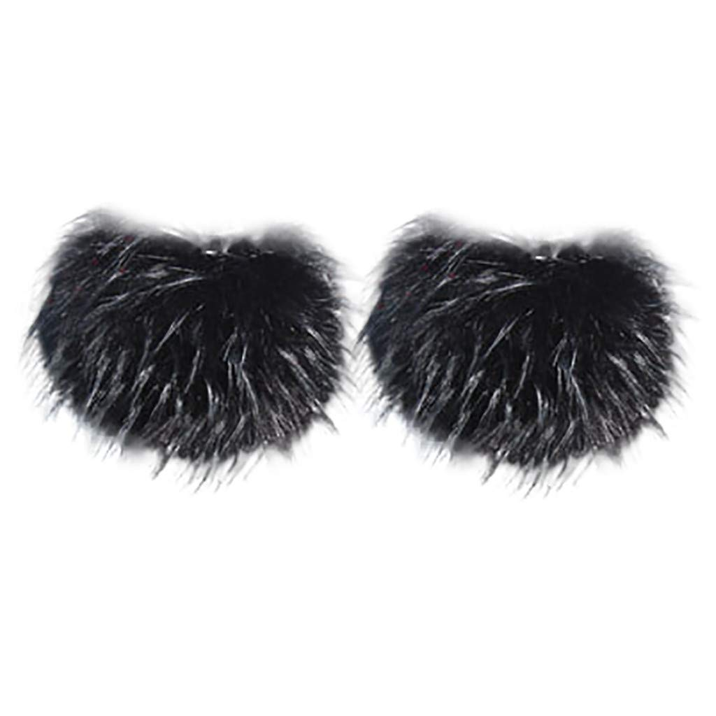 Women Boot Shoes Cover Faux Fur Warmer Cover Furry Leg Ankle Warmer Costume