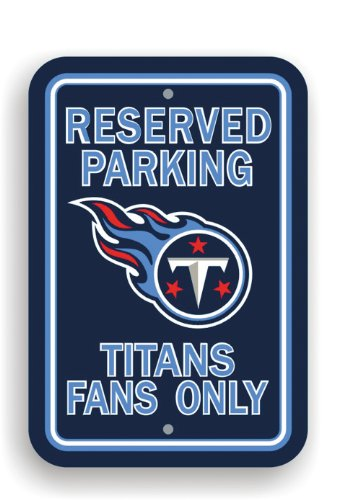 Fremont Die NFL Tennessee Titans Plastic Parking Sign