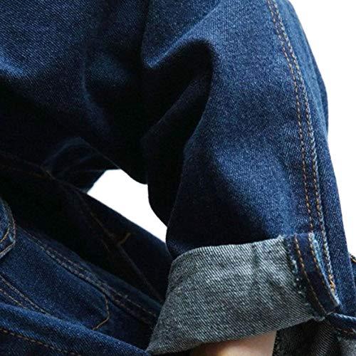 Printemps Cowboy Longue Fonc Femmes Manteau Veste Bleu Denim Fille Lache Jean Veste Match tudiants en All BF Style Manches Delicacydex Veste BSCqq