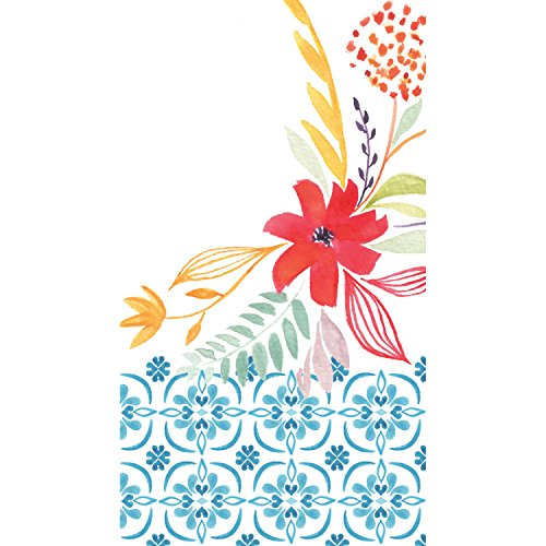 - Watercolor Floral Paper Guest Towel Set of 15-8 x 5 Inches