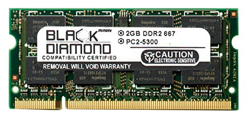 (2GB RAM Memory for Dell Inspiron 1720 Black Diamond Memory Module DDR2 SO-DIMM 200pin PC2-5300 667MHz Upgrade)