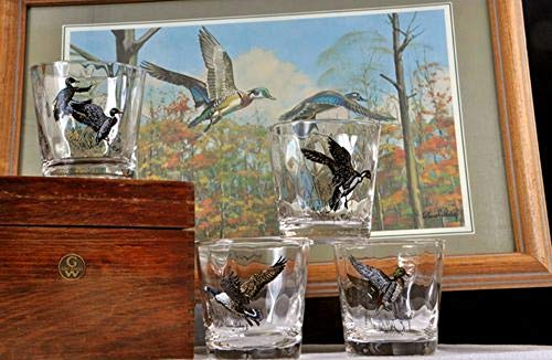 Hunting & Wildlife Series, 4pc Waterfowl Optic Double Old Fashioned ()
