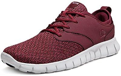 TSLA CLSL Men's Lightweight Sports Running Shoes, Flex Groove(x574) - Burgundy, 9.5